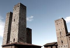 Die Geschlechtertürme in  San Gimignano