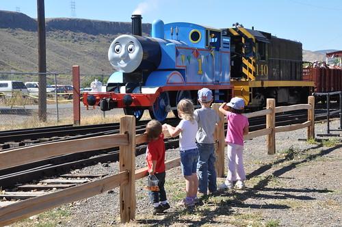 Waving to Thomas