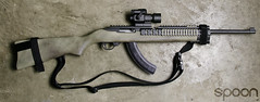 Ruger 10/22 (SpoonPhoto) Tags: red paint skin snake dot spray cheap 1022 krylon ruger utg fde magpul