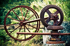 Well, it was a well once ... (Lee Downham) Tags: wheel landscape rustic ruin engineering well pump cogs traditionallife
