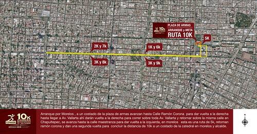 Ruta carrera Bicentenario 10K Guadalajara