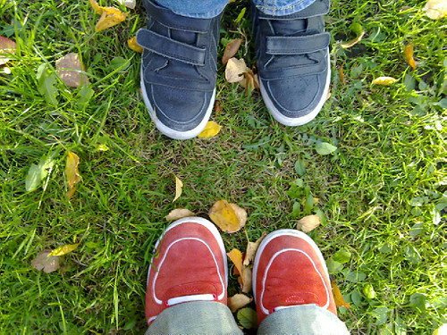 Miss Vs sneakers and mine