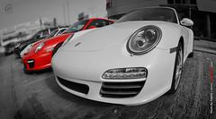 Poarche's Kids (Tareq Abuhajjaj   Photography & Design) Tags: red white sport speed big nikon fast fisheye cayenne turbo saudi arabia 700 16mm riyadh v8  gt2 v6 gt3 tareq      d700 tareqmoon  abuhajjaj  poarche