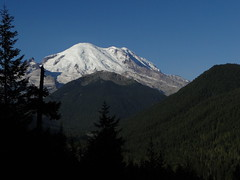 Rainier from roadside pullout on Highway 123.