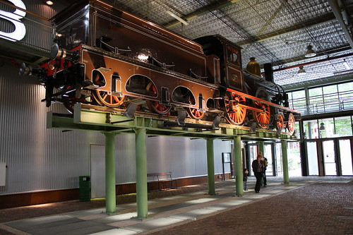 Train at Utrecht railway museum