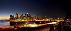 New York (Heilah Alnasser) Tags: city nyc panorama usa newyork brooklyn nikon bluehour nikkor d300