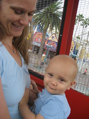 Mommy and Logan on the Ferris Wheel at Paradise Pier