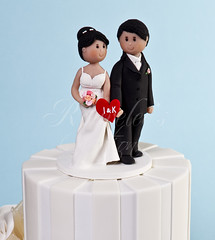I & K Topper (Rouvelee's Creations) Tags: groom bride polymerclay caketopper rouvelee