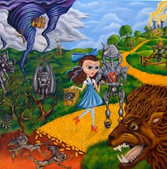 Out of Oz (Grant Cunningham) Tags: dark painting intense colorful montreal vibrant grant fineart gothic goth fantasy horror cunningham bizarre alternative oilpainting lowbrow apocalyptic gothart darkart finearts lowbrowart alternativeart gothicart montrealais montrealer bizarreart montrealartist grantcunningham grantmontreal