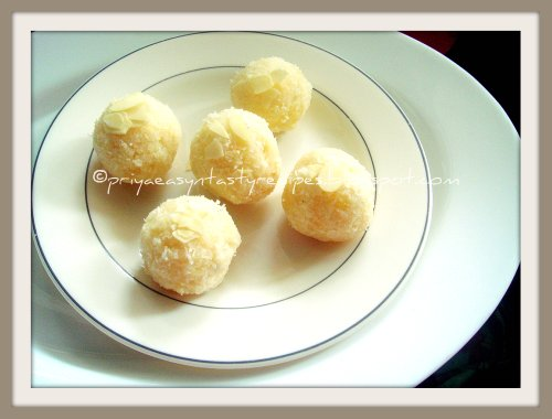 Coconut-pineapple Laddoo