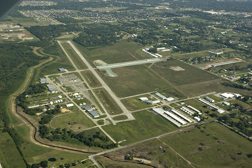 Pearland Airport from the Air