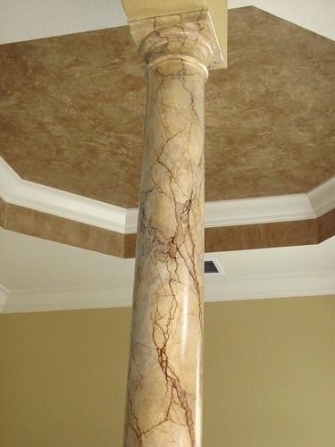 Faux painted columns