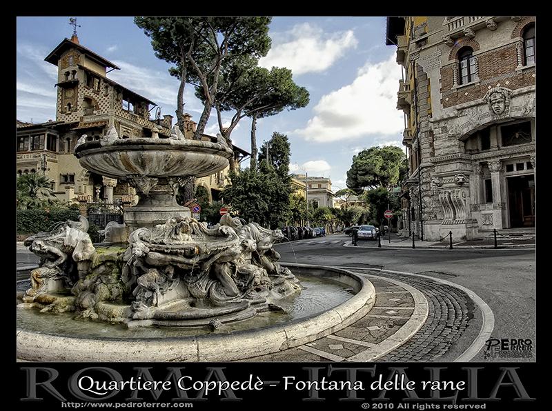 Roma - Quartiere Coppedè - Fontana delle rane