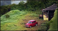 Red Car. (Prabhu B Doss) Tags: red car nikon village garage tamilnadu ooty fernhill d80 prabhub prabhubdoss zerommphotography 0mmphotography