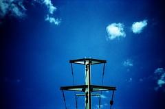 .. (dreifachzucker) Tags: sky film clouds analog schweiz switzerland lomo lca xpro crossprocessed suisse aarau slidefilm pylon analogue 2010 lomographylca autaut agfaphotoctprecisa100 june2010 neckcracker