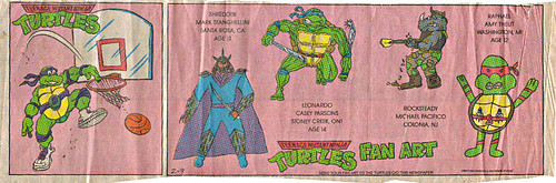 Teenage Mutant Ninja Turtles { newspaper strip } .. Basketball Don ..art by Lawson :: 02091992
