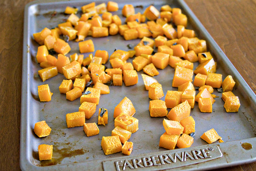 Farfalle with Butternut Squash and Roasted Pumpkin Sauce - 3