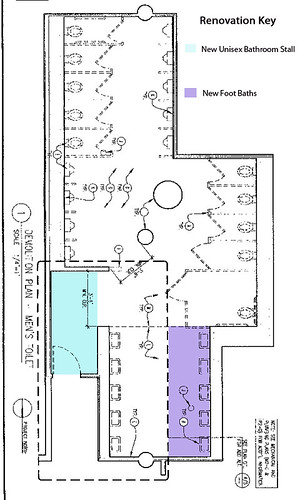 Cesar Chavez Building Bath Room Blueprint