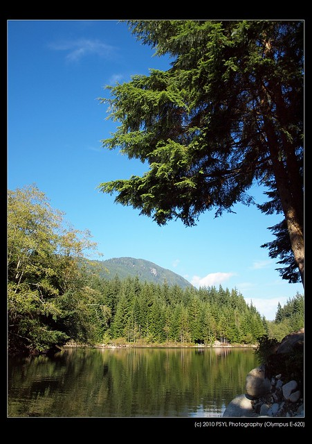Lake, Forest, Mountain, Sky