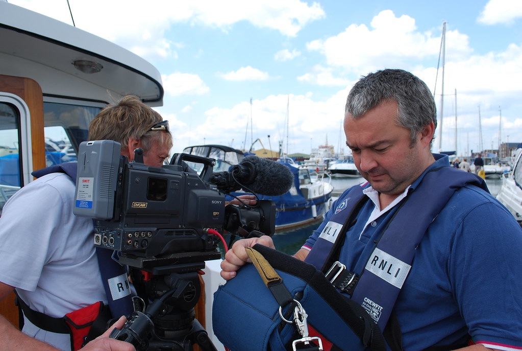 Classlane Media filming for the RNLI on the Dorset coast