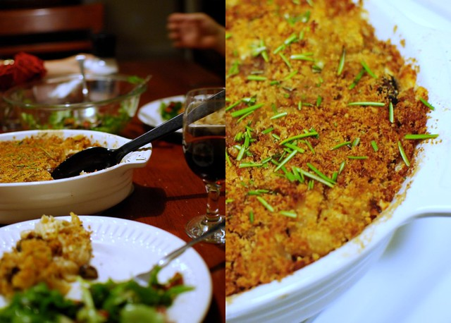 truffle mushroom mac and cheese/impromptu dinner party
