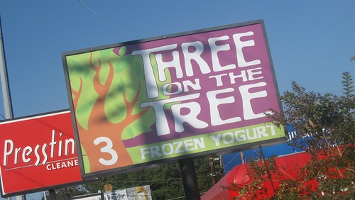 three on the tree - signage