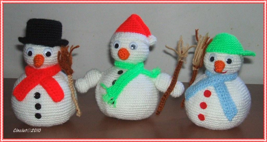 Amigurumi Snowman : Snowman ornament christmas decoration winter gift cozy home