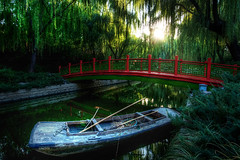 Secret Treasures of Beijing (Stuck in Customs) Tags: china city travel bridge trees red holiday reflection water festival digital painting photography boat canal blog high asia republic dynamic stuck footbridge labor traditional beijing cleanup calm tools september east celebration photoblog software processing metropolis imaging  prc canopy northern range hdr painters tutorial trey peking travelblog customs 2010 municipality publicholiday bijng ratcliff october1st  northernchina hdrtutorial stuckincustoms treyratcliff photographyblog peoplesrepublicofchina stuckincustomscom nikond3x  guqngji goldenweeks
