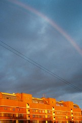 *** (Idanadpi) Tags: sunset sky sunlight rainbow moscow redhouse presnya