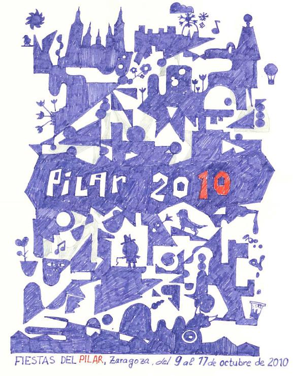 Cartel Fiestas del Pilar 2010