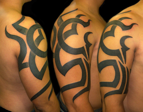 family tree tattoos. Freehand Family Tree Tribal by