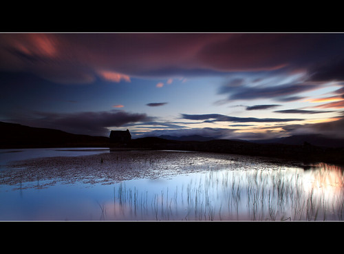 Lochan Sunset (angus clyne) blue sunset summer cloud dog mountain cold home night canon reeds lens scotland moving pond weeds long exposure angle ben angus dusk hill wide perthshire deep tay lilly hour late loch finn setting kenmore scotish gloaming lawers clyne lochan colorphotoaward 5dmarkii