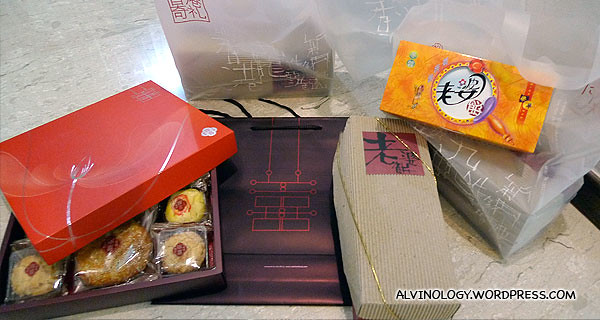 Traditional snacks which we bought to share with our colleagues and relatives
