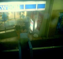 view from the Yamanote line (noji-ichi) Tags: rain japan female night train tokyo waiting   takadanobaba  yamanoteline      sq30m