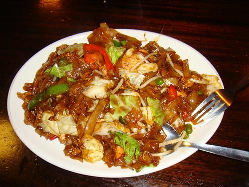 Stir fry noodles con pollo
