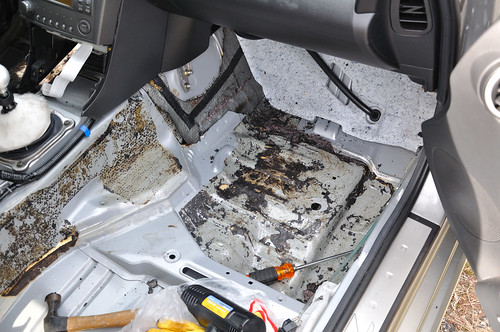 passenger sound deadening removal