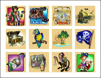 free X Marks The Spot slot game symbols