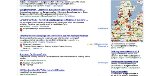 Nieuwe Google Maps integratie in zoekresultaten?