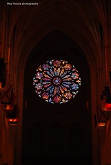 DSC_58631 (Mad House Photography) Tags: blue light red orange usa color green church window colors lines architecture dark lights washingtondc dc washington focus cathedral gothic stainedglass looming nationalcathedral washingtonnationalcathedral