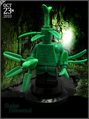 October 23 - Sludge Elemental (Morgan190) Tags: halloween toxic scary october advent calendar lego earth creepy pollution minifig poison custom sludge 2010 destroy elemental m19 minifigure pollutant brickarms morgan19 minifigworld