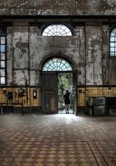 MAXHUETTE . inside (mELLi1506) Tags: door abandoned girl lost factory dri sulzbachrosenberg maxhuette