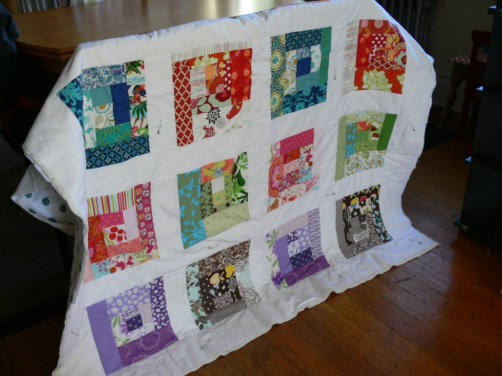 Jenny: Scrappy Squares Quilt Progress