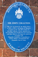 Photo of John Colleton blue plaque