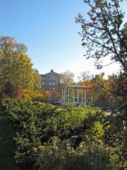 A park (ekvator13) Tags: park school autumn trees oslo pavilion bushes grnerlkka birkelunden canonpowershotg11