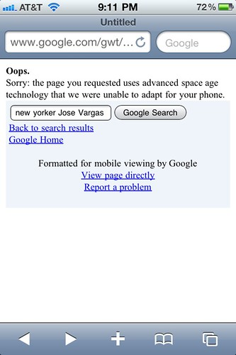 Google Takes a Swipe at my Iphone