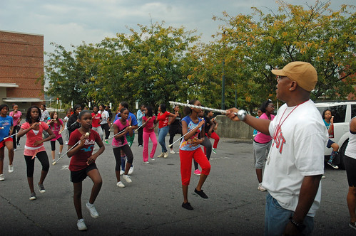 On the streets of Ashvegas: High Steppin Majorette & Drum Corps