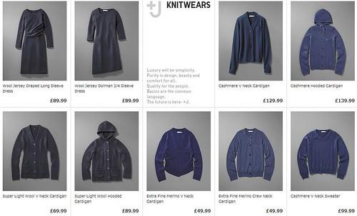 Jil Sander Uniqlo J+knitwear