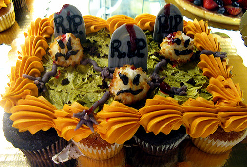 Halloween Zombie Graveyard Pull Apart Cupcake Cake by Tony Albanese