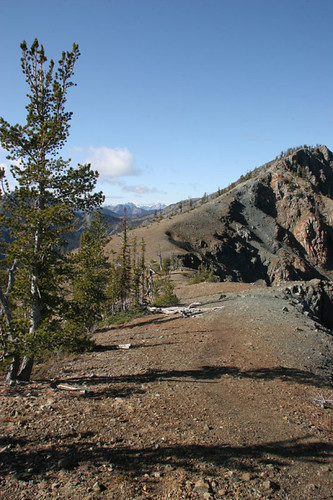 Looking towards Peak 6878 north of Longs Pass