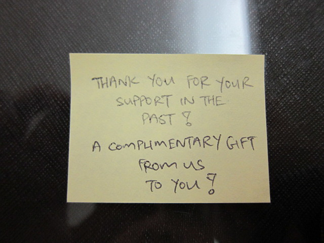 Complimentary Note